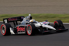 James Jakes podczas wyścigu Indy Japan 300 IndyCar Series w 2011 roku