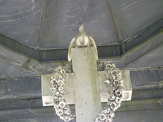 James Matheson - Poppy Wreath in James Matheson's Tomb in Lairg Scotland