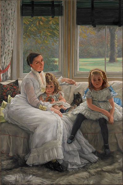 File:James Tissot - Portrait of Mrs Catherine Smith Gill and Two of her Children - Google Art Project.jpg