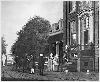 Jan Gildemeester - The Gildemeesters in front of Frankendael House, 1766