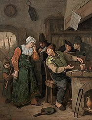 The Alchemist and his Crying Wife