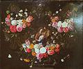 Jan van Kessel (I) - Guirlande de fleurs avec la sainte Famille.JPG