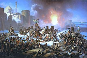 Selim III - Ottoman troops desperately attempt to halt advancing Russians during the Siege of Ochakov (1788).