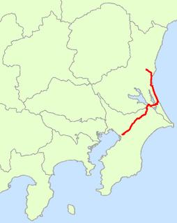 Japan National Route 51 road in Japan