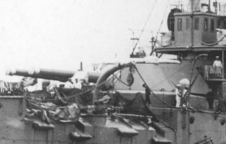 Armstrong Whitworth 12 inch /40 naval gun - Image: Japanese battleship Fuji Forward 12 inch guns