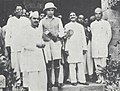 Jawaharlal Nehru at Karachi on return from Lausanne with Kamala Nehru's ashes.jpg