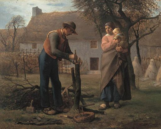 Jean-François Millet (II) - Farmer Inserting a Graft on a Tree - WGA15692