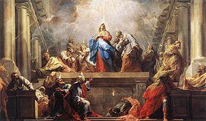 Jean II Restout - Jean II Restout, Pentecost, oil on canvas, 1732