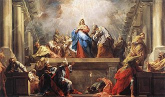 Jean II Restout - Jean II Restout, Pentecost, oil on canvas, 1732