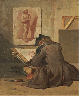 Jean Siméon Chardin - Young Student Drawing - Google Art Project