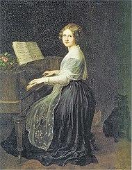 Jenny Lind, Gemälde von Louis Asher, 1845 (Quelle: Wikimedia)