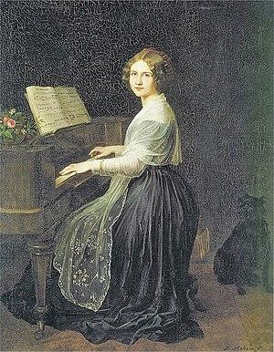 Louis Asher - Portrait of Jenny Lind, 1845.