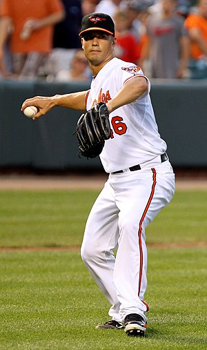 Jeremy Guthrie - Guthrie during his tenure with the Baltimore Orioles in 2011