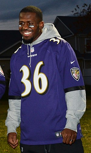 Jeromy Miles - Miles representing the Ravens at a charity event in 2013.