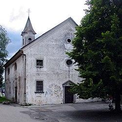 Jesenice Cerkev Marije Pomočnice portal 03.jpg
