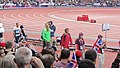 Jessica Ennis prior to the final heat of the Women's Heptathlon (7738550656).jpg