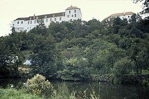 Jevišovka (river) - Jevišovka and the castle in Jevišovice