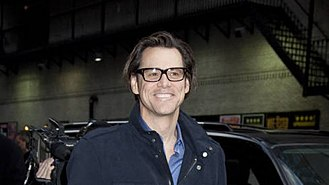 Jim Carrey - Carrey walking in to the Ed Sullivan Theater, venue for the Late Show with David Letterman, in 2010