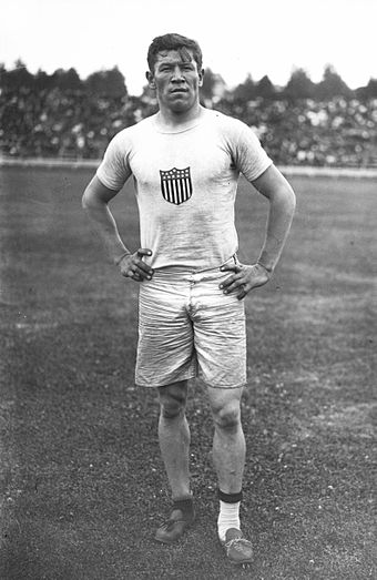 American athlete Jim Thorpe lost his Olympic medals for violating amateurism rules of the Olympic Games. - Track and field