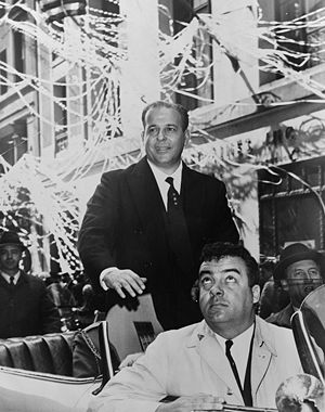 João Goulart - Goulart during a ticker tape parade in New York City, 1962.