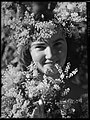Joan Pernell wattle Crowning glory (golden wattle, Australia's national flower, portrait of a woman) (Sydney, New South Wales) - (Frank Hurley) (9714560580).jpg
