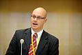 Johan Linander, Sverige, talar pa Nordiska radets session i Stockholm 2009.jpg