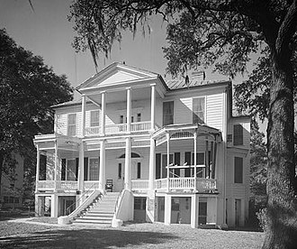 History of Beaufort, South Carolina - The John A. Cuthbert House is an example of antebellum architecture in Beaufort