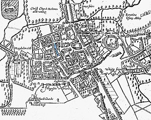 Magpie Lane, Oxford - Image: John speed 1605 map oxford gropecunt