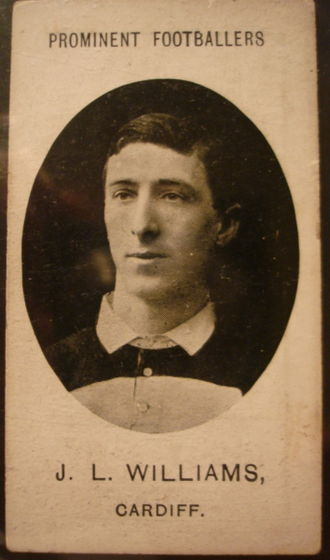 Johnny Williams (rugby player, born 1882) - Williams in Cardiff jersey