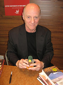 Carroll at a reading in Stacey's Bookstore, San Francisco, in 2008