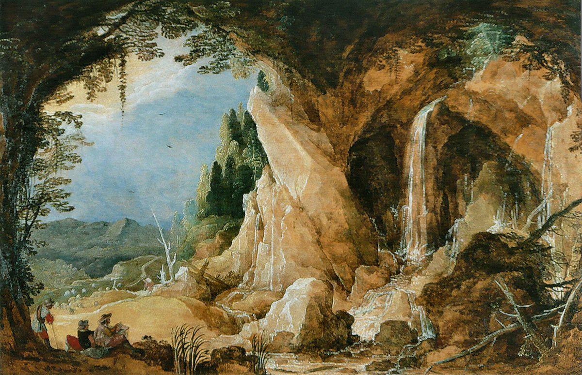 Paysage avec grotte — Wikipédia