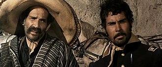 José Manuel Martín - Martín (left), with co-star José Canalejas, in the Tonino Valerii Spaghetti Western Per il gusto di uccidere (1966)