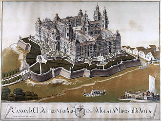 Klosterneuburg Monastery - Planned appearance of Klosterneuburg Monastery after extension (1774)