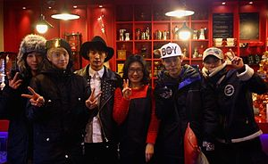 Be.A - Be.A with the manager of Busan Coffee Gallery in December 2013
