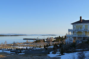 Kamouraska, Quebec - A panoranmic view of the St. Lawrence in Kamouraska