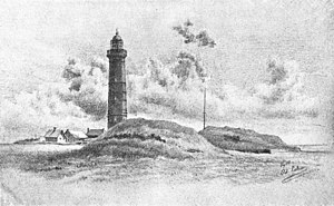 Kampen lighthouse, Sylt - Kampen lighthouse in 1895