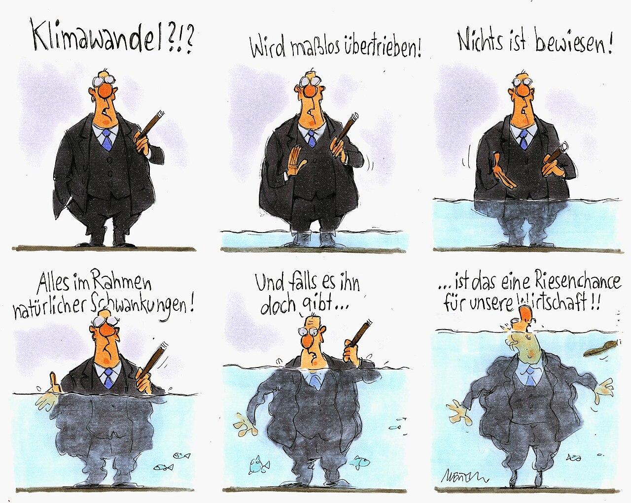 Karikatur von Gerhard Mester zum Thema Klimawandel gibt es nicht O12816.jpg