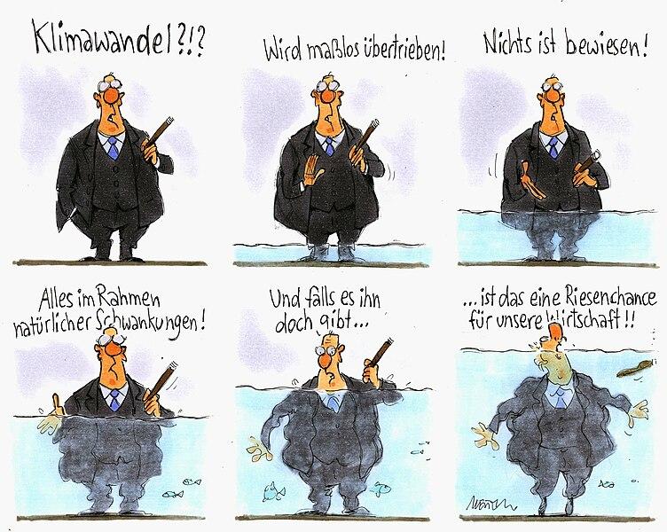 File:Karikatur von Gerhard Mester zum Thema Klimawandel gibt es nicht O12816.jpg