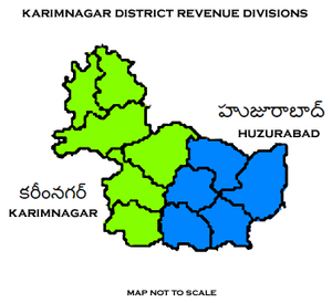 Karimnagar district - Karimnagar District Revenue divisions
