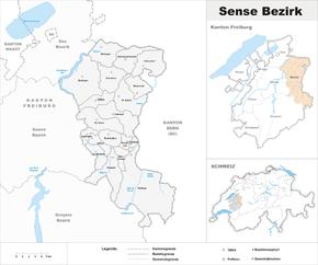 Der sensebezirk französisch district de la singine freiburger
