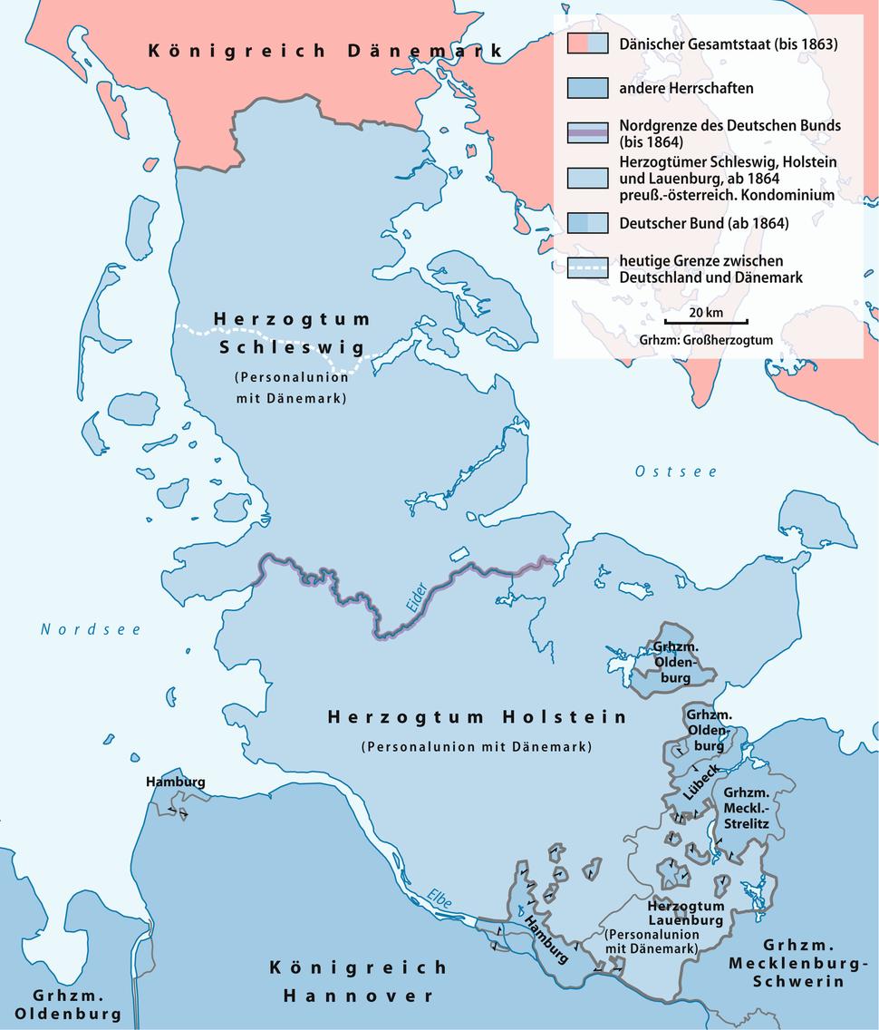 Karte Deutsch-D%C3%A4nischer Krieg