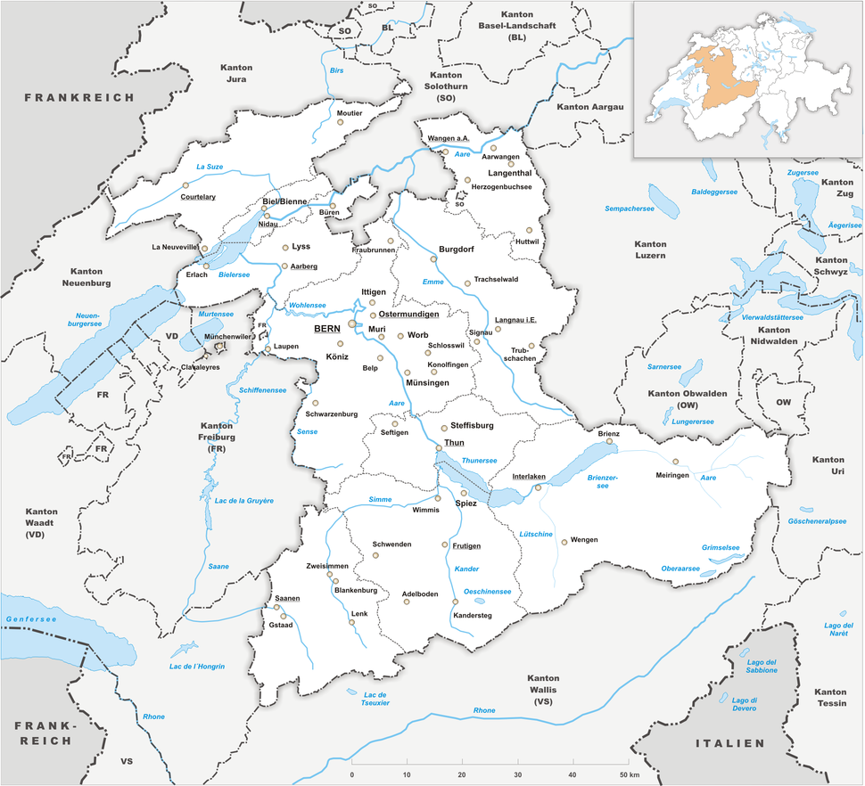 Karte Kanton Bern 2010