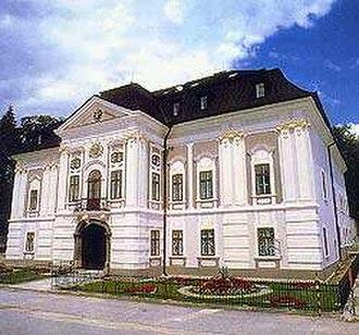 Révay family - Rococo-classical Révay manor house in Mošovce