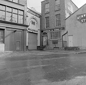 Fishamble Street - Fishamble St in 1967, with the archway to what was once Neal's Music Hall