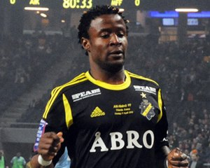 Kennedy Igboananike - Igboananike playing for AIK
