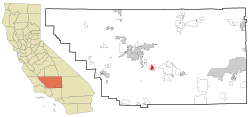 Kern County California Incorporated and Unincorporated areas Arvin Highlighted.svg