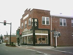 Kilmarnock, Virginia - Street corner in downtown Kilmarnock