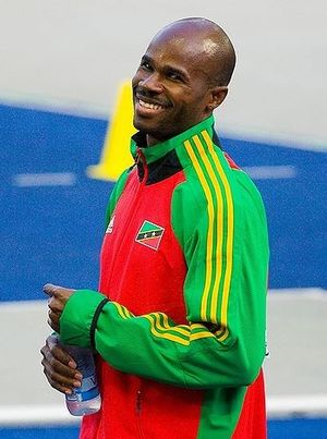 Saint Kitts and Nevis national athletics team - Kim Collins, the only gold medalist in the history of Saint Kitts and Nevis.