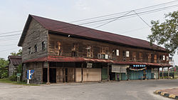 Colonial-era shoplots in Kimanis town.