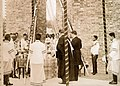 King Vajiravudh laying the foundation stone for the Administration Building, 1916 (cropped).jpg